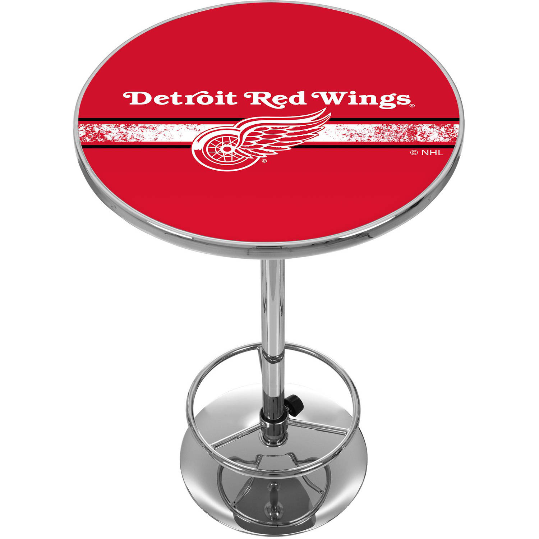 NHL Chrome Pub Table, Detroit Redwings
