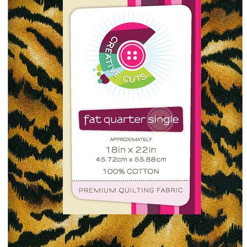 VIP Fabrics Creative Cuts Fat Quarter Single, Tiger Skin