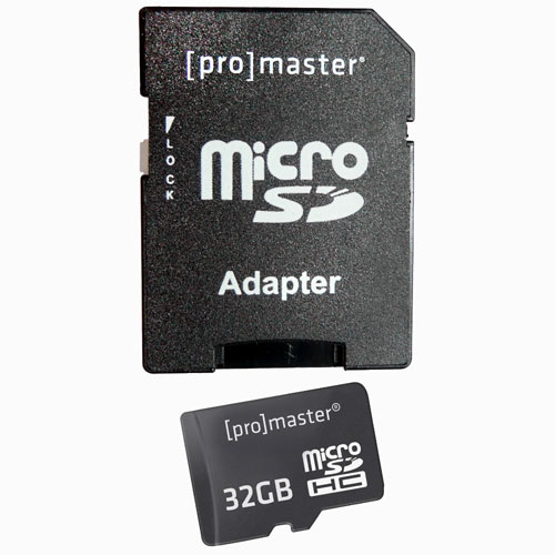 Promaster 32GB Micro SD Memory Card
