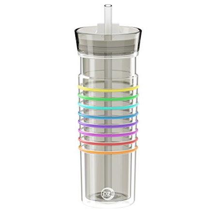 Zak Designs HydraTrak Ghost Tritan Water Intake Calculator Double Wall Tumbler BPA Free 20 oz.