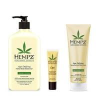 Hempz lotion Age Defying Moisturizer, Body Wash, Lip Balm Gift Set
