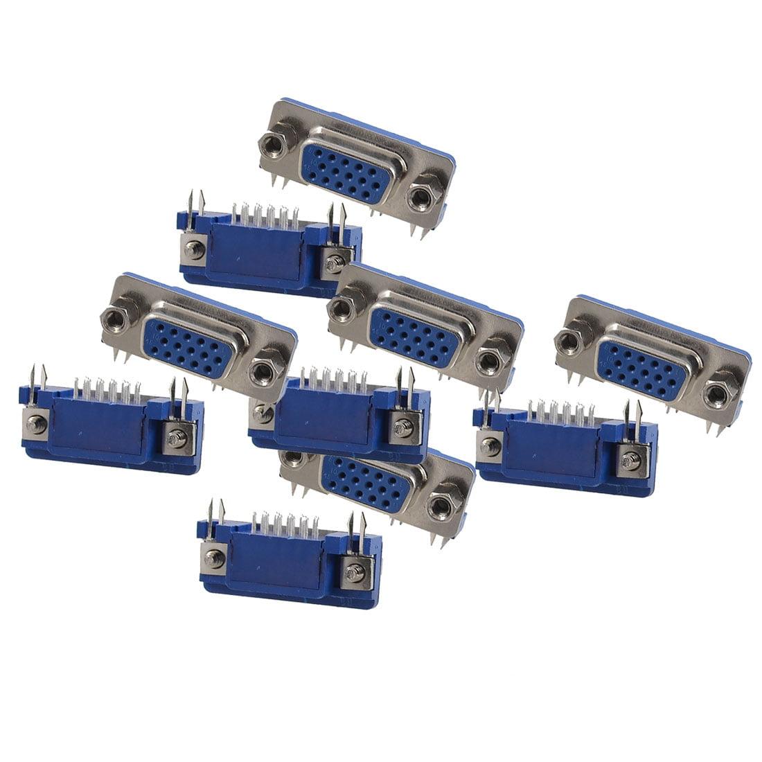 Unique Bargains 10 Pcs HDR 15-Pin Female Jack Plug Conver...