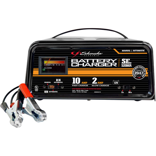 Schumacher 10/2 Fully Automatic/Manual Dual-Rate with LED Charger