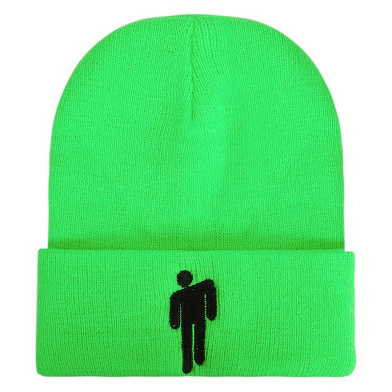 Light Billie Eilish green beanie knit and soft