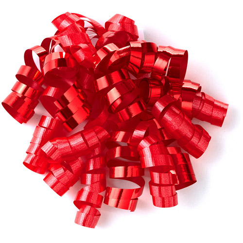 Hallmark Metallic Red Curly Ribbon Cascade