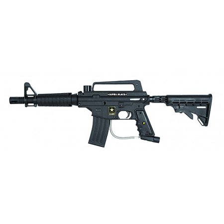 US Army by Tippmann Alpha Black Tactical Edition Paintball Marker with Electronic Trigger, Black