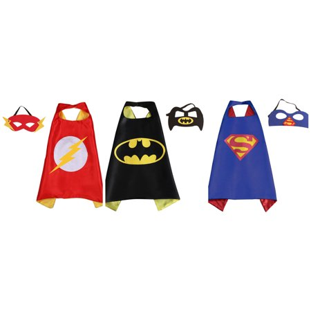 3 Set Superhero  Costumes - Capes and Masks with Gift Box by - Superhero Cape