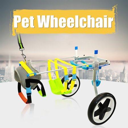 XXS-S Pet Dog Cat Wheelchair Cart Scooter Adjustable 2 wheels For Handicapped Hind Leg Pet Dog Aluminium Helper