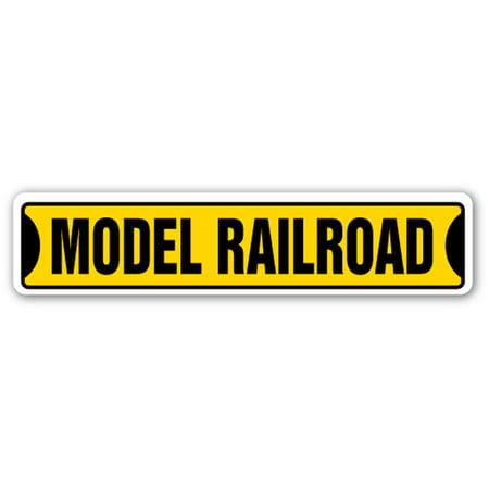 MODEL RAILROAD Street Sign trains scenery railroading layouts hobby