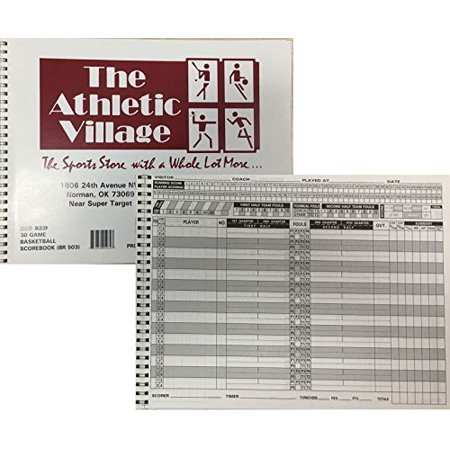 Standard Basketball Scorebook,30 Games Spiral Bound 15 Players (Set of 3)](Halloween Basketball Game Ideas)