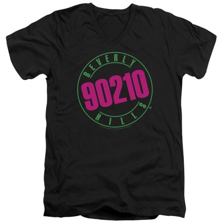 90210 Beverly Hills Cw Tv Series Neon Adult V Neck T Shirt Tee