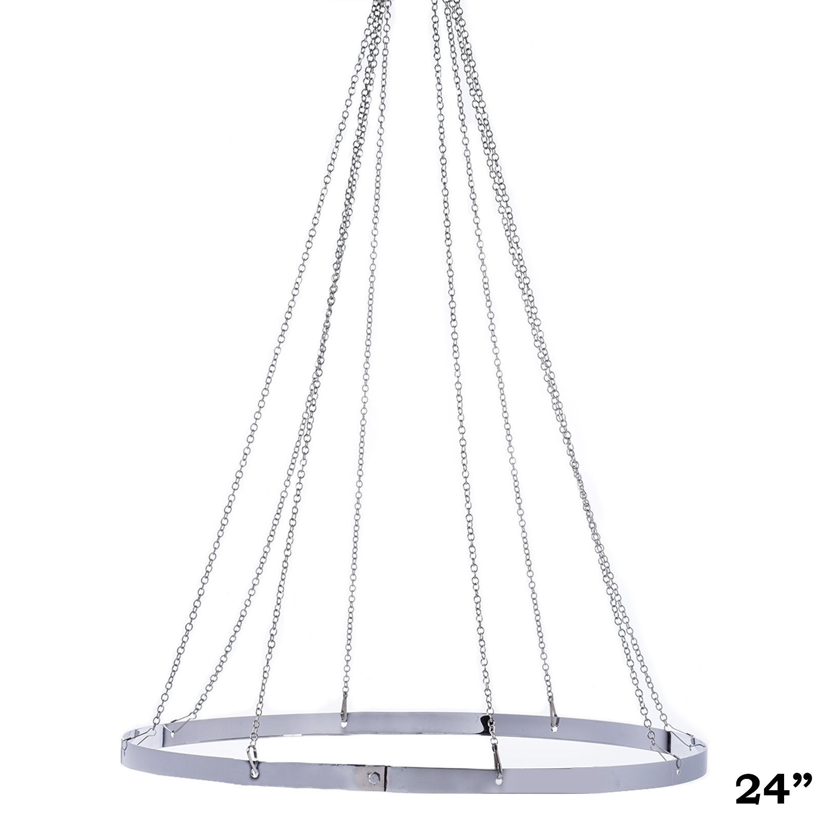 "BalsaCircle 24"" Ceiling Draping Canopy Hoop Hardware Kit for 8 Panels Party Wedding Home Decorations by"
