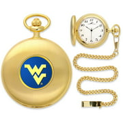 West Virginia Mountaineers NCAA Gold Pocket Watch