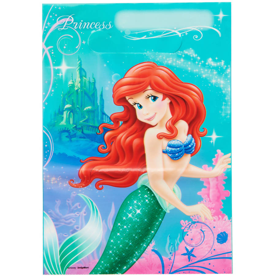 The Little Mermaid Treat Bags, 8 Count, Party Supplies