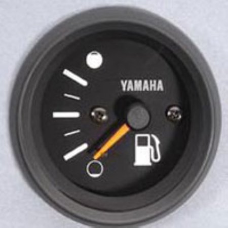 Yamaha New OEM Pro Series II Black Face Fuel Gas Gauge -