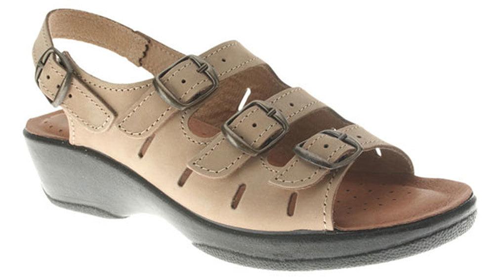Flexus Women's WILLA Sandals BEIGE M 41 M EU 9.5-10 M BEIGE e02e20