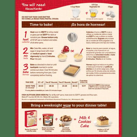 Betty Crocker Super Moist Vanilla Cake Mix