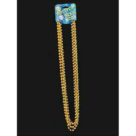 Gold Bead Necklace Halloween Costume Accessory - Bearded Halloween Ideas