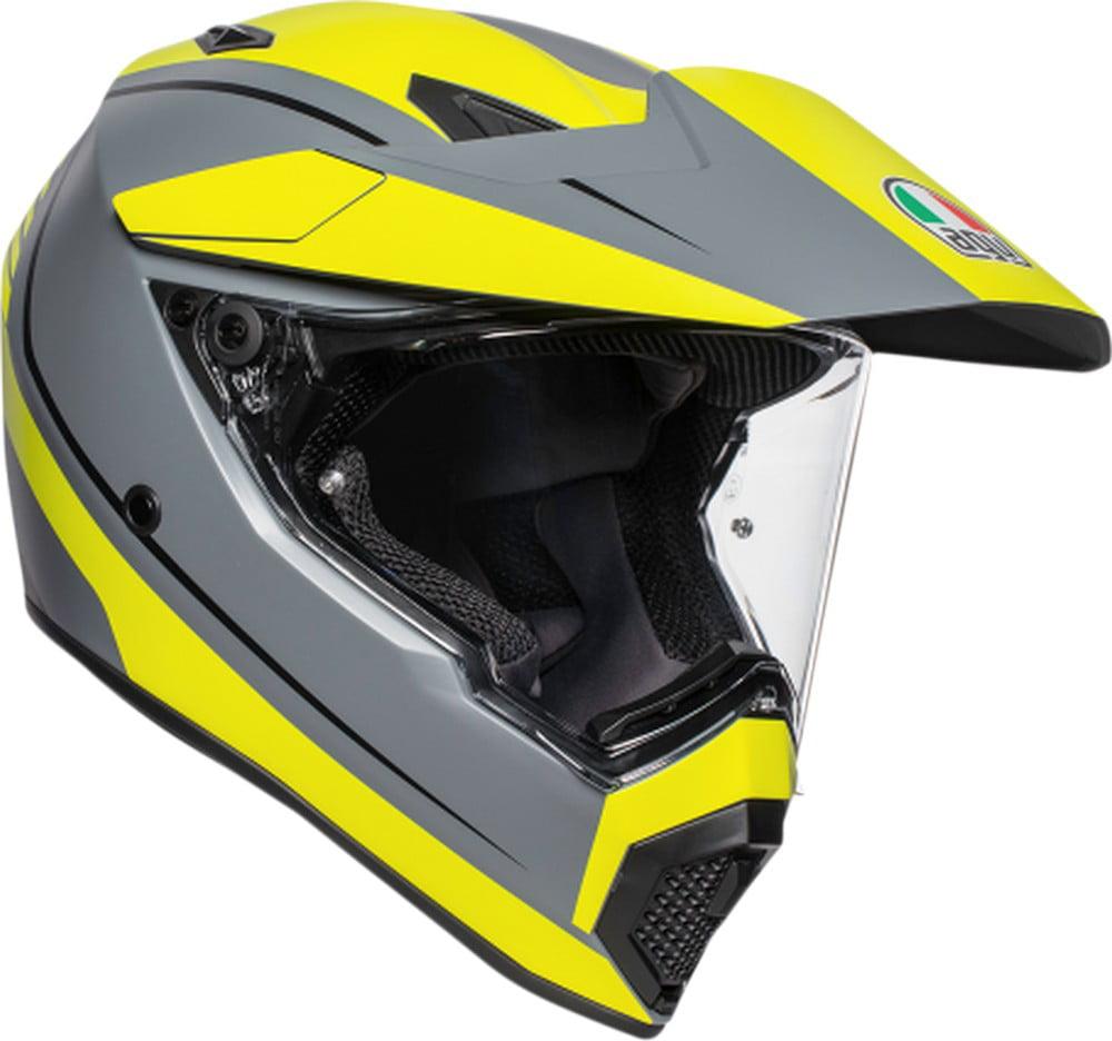 AGV AX-9 Multi MX Offroad Helmet Matte Gray/Fluorescent Yellow