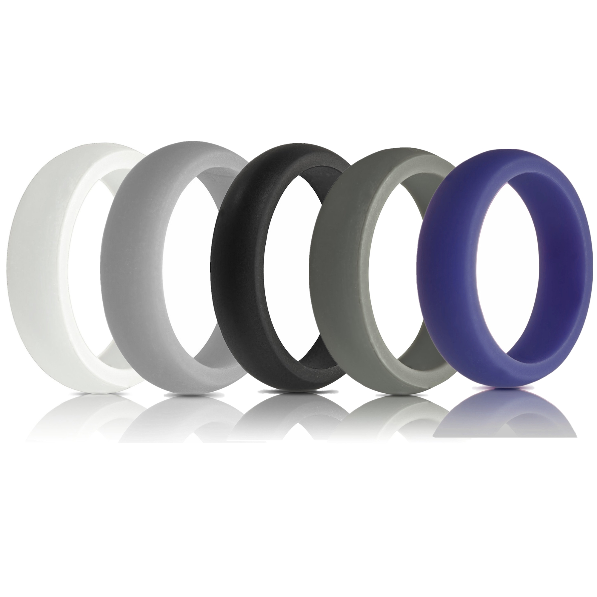Moretek Silicone Wedding Rings Wedding Bands All Sizes for Active
