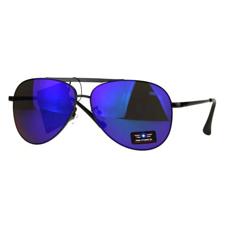 Classic Mens Air Force Color Mirror Lens Oversize Pilots Sunglasses Gunmetal (Air Force Style Sunglasses)
