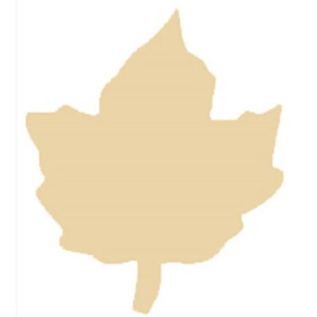 Maple Leaf Die Cuts (Brand New 292081-25 Wooden Maple Leaf Cut Out Bag of)