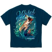 Cotton Wicked Fish Striped Bass With Popper Air Born T-Shirt