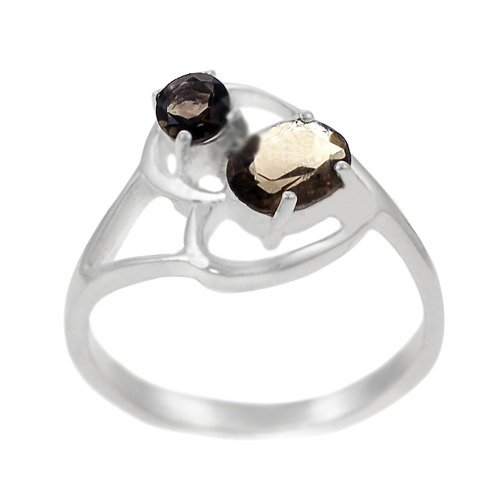 Skyline Silver Sterling Silver and Smokey Topaz Ring