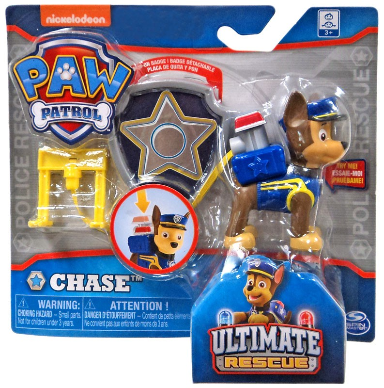 Paw Patrol Ultimate Rescue Chase Figure [Badge]