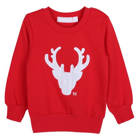 EFINNY Family Matching Christmas Deer Pullover Outfits (Family Christmas Outfits)