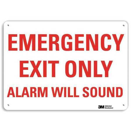 LYLE U7-1085-RA_14X10 Safety Sign, Reflctv Alumi, 14inH x 10inW