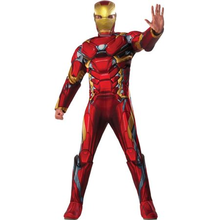 Morris Costumes RU810968 Ca3 Iron Man Standard Adult Costume