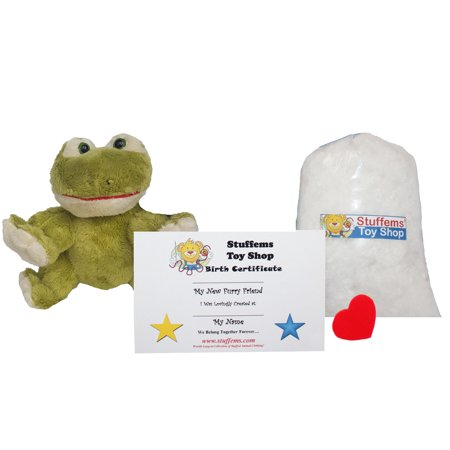 Make Your Own Stuffed Animal Mini 8 Inch Super Soft Green Frog Kit - No Sewing Required! - Mini Frogs