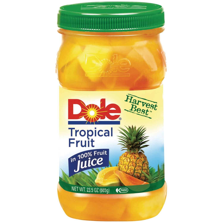 Dole® Jarred Tropical Fruit - 23.5 oz. Plastic Jar