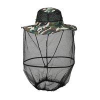 Fysho Fishing Mosquito Head Net Cap Breathable Sunshade Fishing Bucket Hat Outdoor Protective