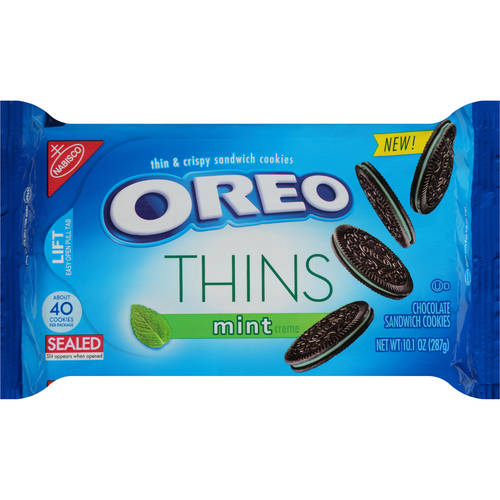 Oreo Thins Cookies, Mint Crème, 10.1 Oz