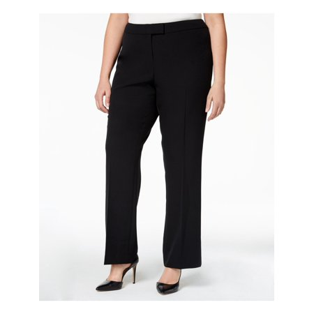 ANNE KLEIN Womens Black Straight leg Wear To Work Pants  Size: 20W