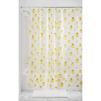 "InterDesign Ducks Frosted PEVA Shower Curtain, 72"" x 72"""