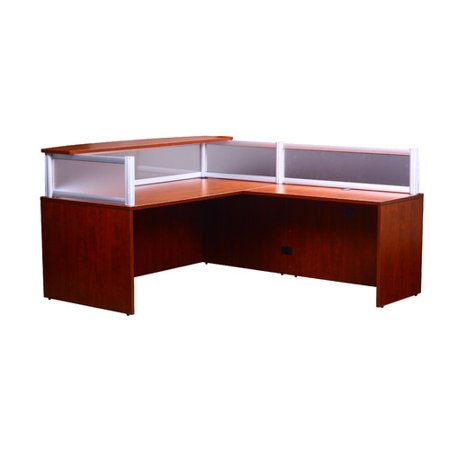 boss plexiglass reception desk mahogany walmartcom boss office products plexiglass reception