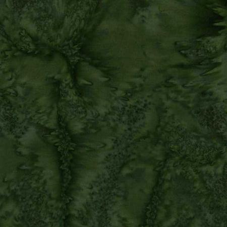 Island Batik Watercolor Mottle Texture Pine Needle Green