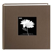 Pioneer 200 Pocket Photo Album - Warm Mocha Natural Colors Fabric