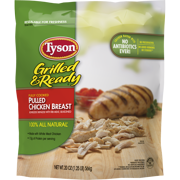 Tyson Grilled & Ready Fully Cooked Pulled Chicken Breast, 20 oz (Frozen)
