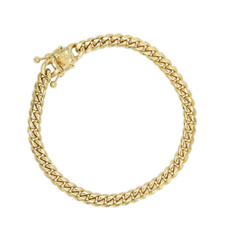 Jb Jewelry Nbsp Cuban Link Chain Bracelet 6mm 18k Gold Plated Stainless Steel Fashion