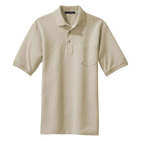 Cord Collar Shirt (Port Authority Men's Flat Knit Collar Pocket Polo Shirt)
