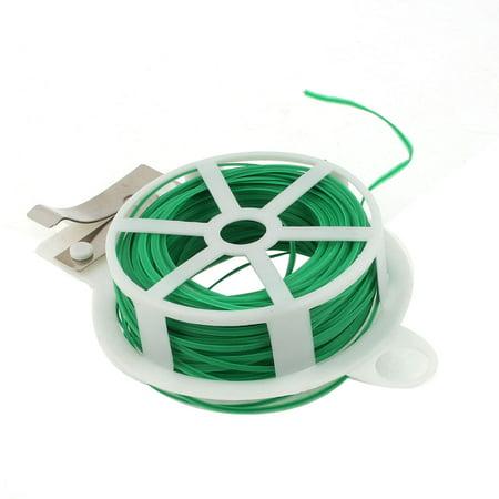 98Ft 98Feet Twist Tie Reel Plant Tie-Line Spool Green Colored Twist Ties