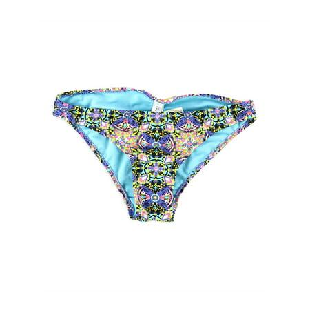 Aeropostale Juniors Bright Floral Bikini Swim Bottom Blue Xs - Juniors
