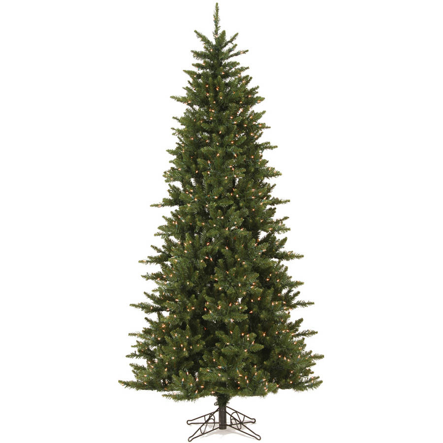 Vickerman 9.5' Camdon Fir Slim Artificial Christmas Tree with 1000 Clear Lights