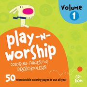 Play-n-Worship: Coloring Pages for Preschoolers CD Volume 1