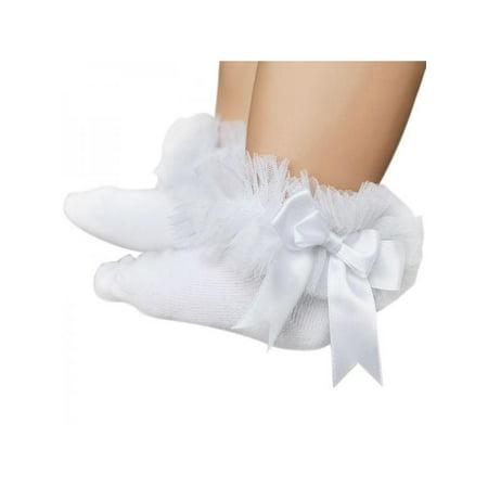 Princess Crown Socks - Toddler Baby Girls Princess Ankle Socks Lace Ruffle Cotton Socks