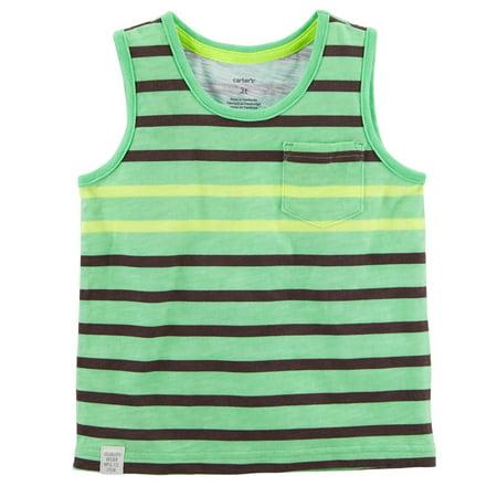 Carter's Baby Boys' Neon Striped Tank Top (Neon Noodle)
